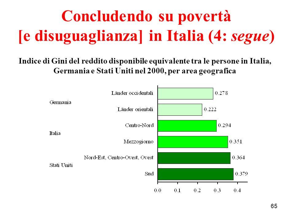 Concludendo su povertà [e disuguaglianza] in Italia (4: segue)
